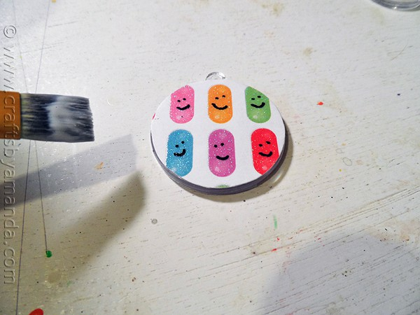 Smiley Backpack Tag @amandaformaro CraftsbyAmanda.com