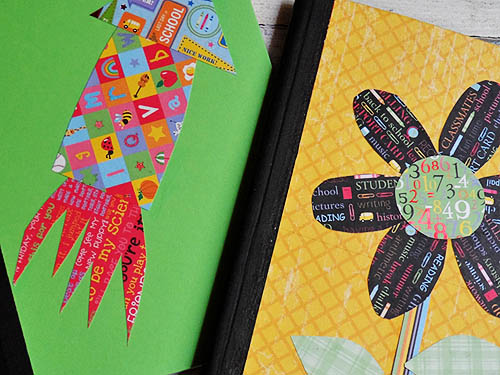 Decorating a Composition Notebook - CraftsbyAmanda.com @amandaformaro