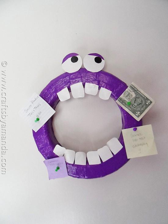 Duck Tape® Monster Corkboard by @amandaformaro CraftsbyAmanda.com