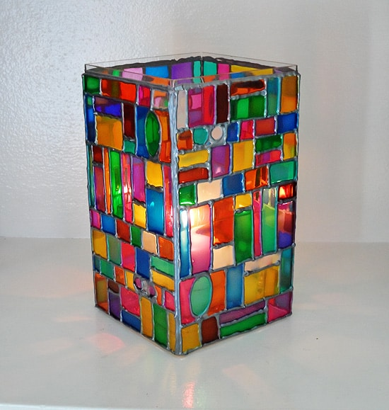 Faux Stained Glass Mosaic Luminary Crafts By Amanda