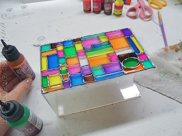 Faux Stained Glass Mosaic Luminary by @amandaformaro CraftsbyAmanda.com