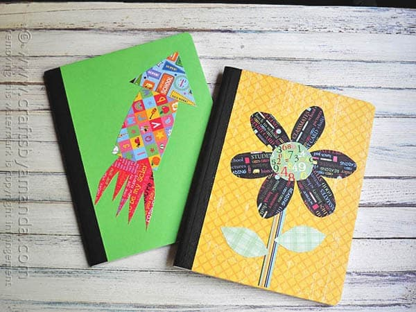 Decorating a composition notebook crafts by amanda for Back to school notebook decoration ideas