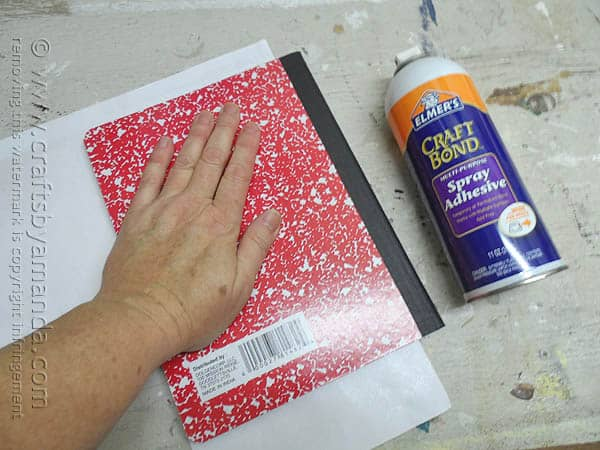 Decorating a composition notebook crafts by amanda for Decorate pictures for facebook