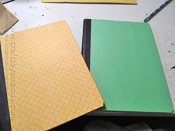 Decorating a Composition Notebook - CraftsbyAmanda.com @amandaformaro