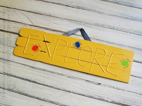 3D Explore Sign for Kids @amandaformaro Crafts by Amanda