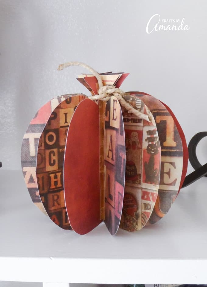 3d Paper Pumpkin An Easy Fall Decor Craft Idea To Do With