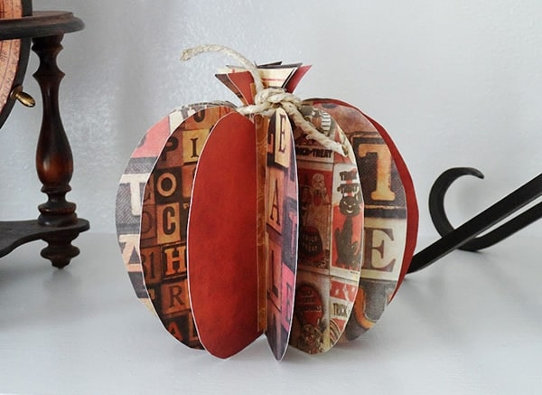 3d paper pumpkin crafts by amanda