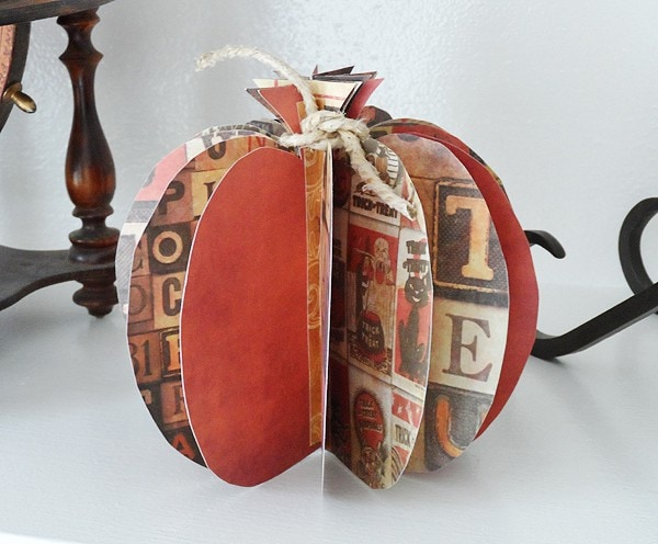 3D Paper Pumpkin @amandaformaro Crafts by Amanda