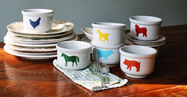 Farm Animal Bowls
