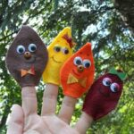 Felt Leaf Finger Puppets