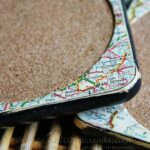 Distressed Map Coasters