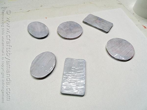 apply decoupage to acrylic shapes