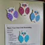 Polka Dot Owl Magnets