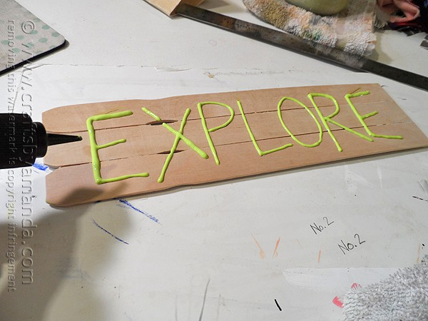 3D Explore Sign for Kids @amandaformaro Crafts by Amanda