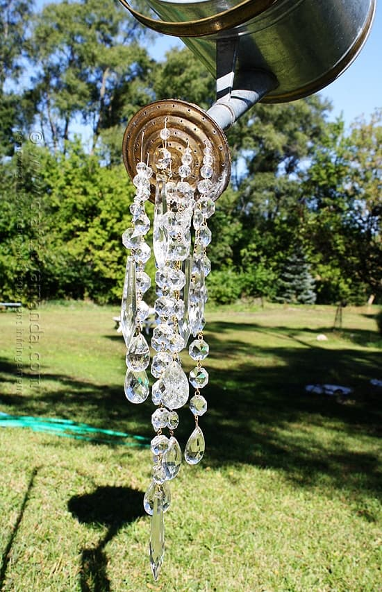 Watering Can That Pours Crystals An Absolutely Beautiful Garden - Chandelier crystals for crafts