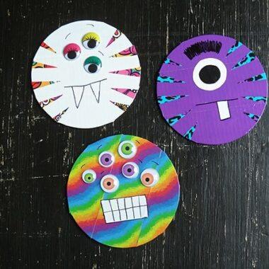 Duck Tape CD/DVD Monsters @amandaformaro Crafts by Amanda