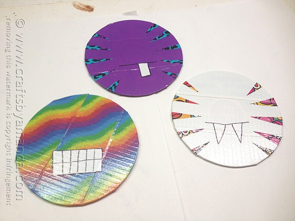 Duck Tape CD/DVD Monsters @amandaformaro Crafts by Amanda