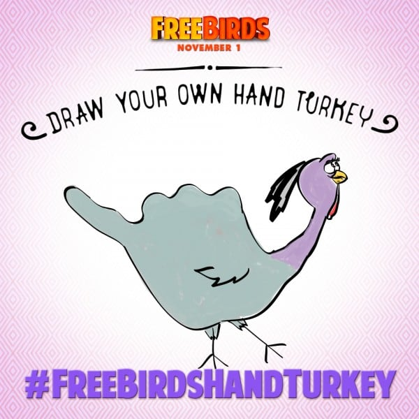 Draw a Free Birds Hand Turkey and You Could Win!