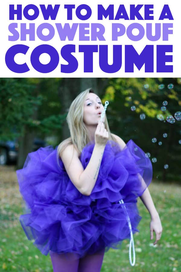 DIY Shower Pouf Costume