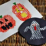 Bubble Wrap Stamping for Halloween @amandaformaro Crafts by Amanda