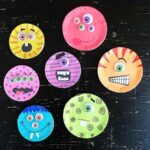 Canning Lid Monster Craft