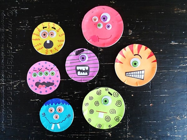 monster craft ideas canning lid craft crafts by amanda 2503