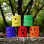 Make Colorful Ghouls from Cardboard Tubes