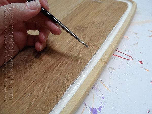 Chalkboard Menu from an Upcycled Cutting Board by @amandaformaro Crafts by Amanda