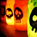 Colorful Skull Luminaries for Hallowe