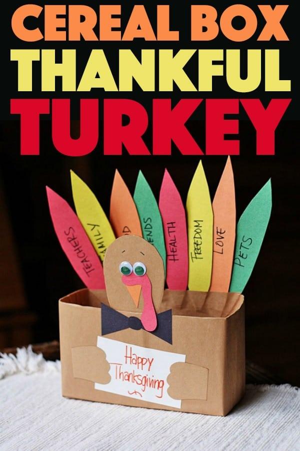 Cereal Box Thankful Turkey