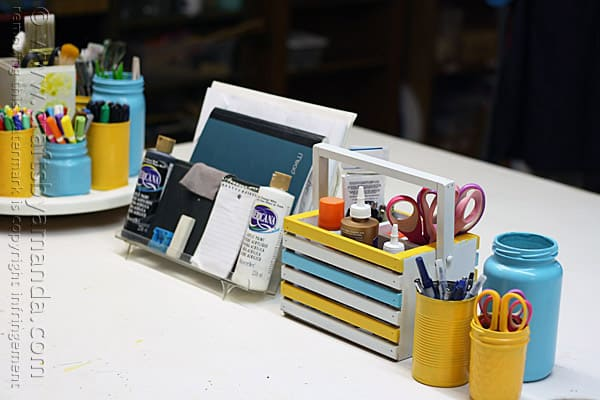 Craft Room Tote Makeover @amandaformaro Crafts by Amanda