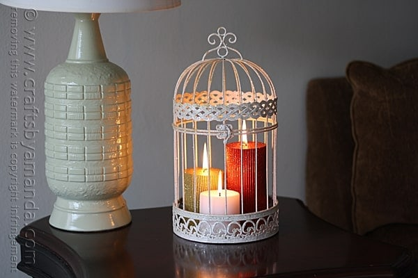 Glitter Candles in a Bird Cage
