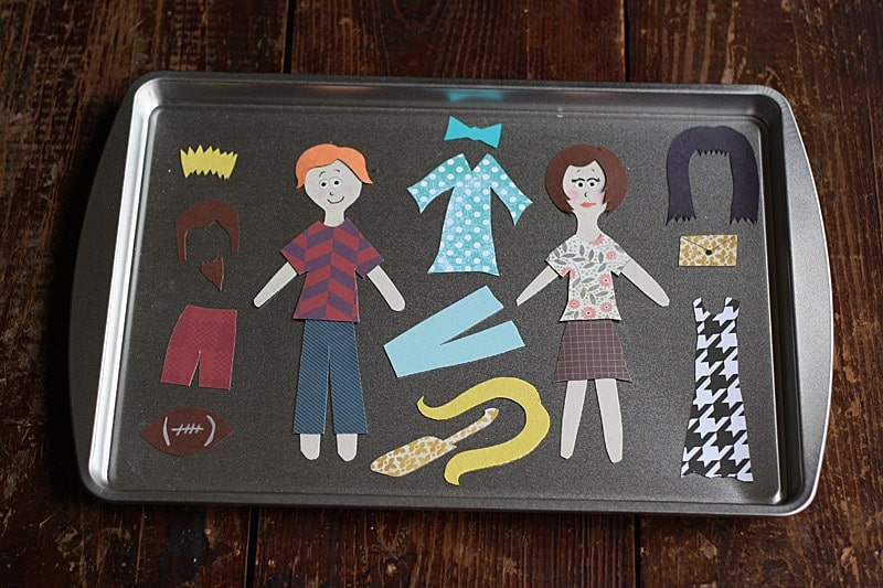 Diy Colorforms Magnetic Dress Up Tray Crafts By Amanda