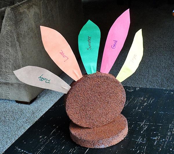 Thankful Styrofoam Turkey by @amandaformaro Crafts by Amanda