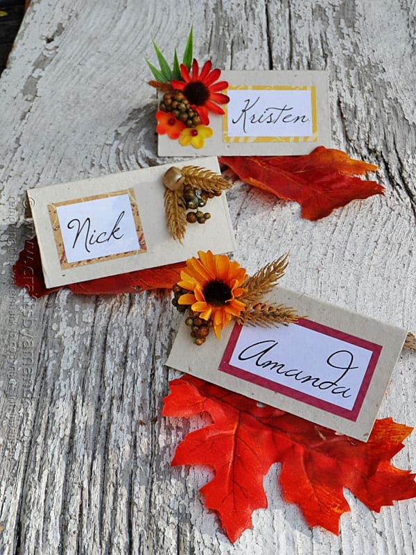 Feb 19, · Mini Pumpkin Place Card. Make room at the table for everyone by layering each place setting. Start with the dinner plate, place a salad plate on top, add a soup bowl, then nestle a napkin in the bowl. Using a paint pen, write a guest's name on a mini pumpkin and lay it atop the iantje.tk: Better Homes & Gardens.