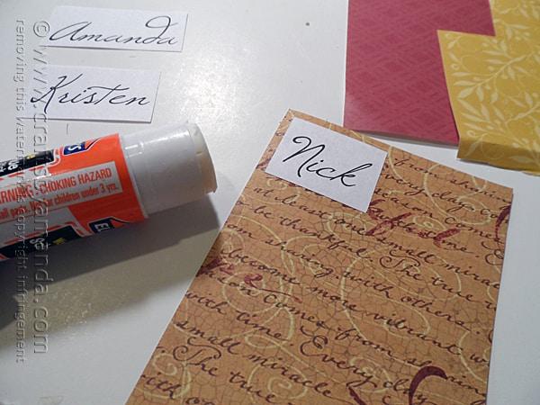 Thanksgiving Place Card Craft @amandaformaro Crafts by Amanda