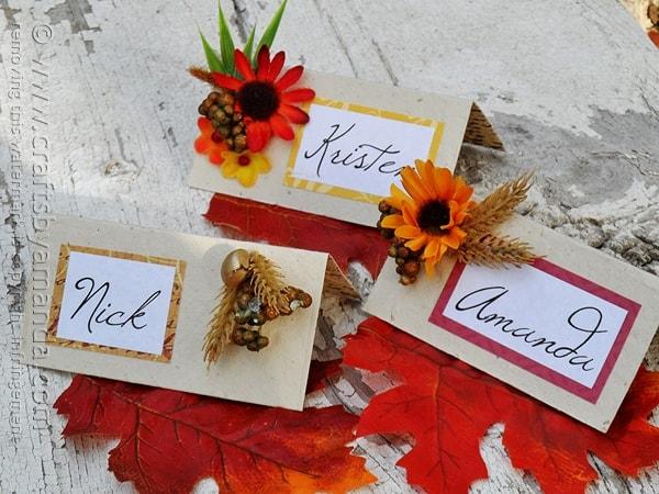 thanksgiving place card craft amandaformaro crafts by amanda - Thanksgiving Place Cards
