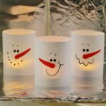 Paper Snowman Luminaries in 3 Minutes