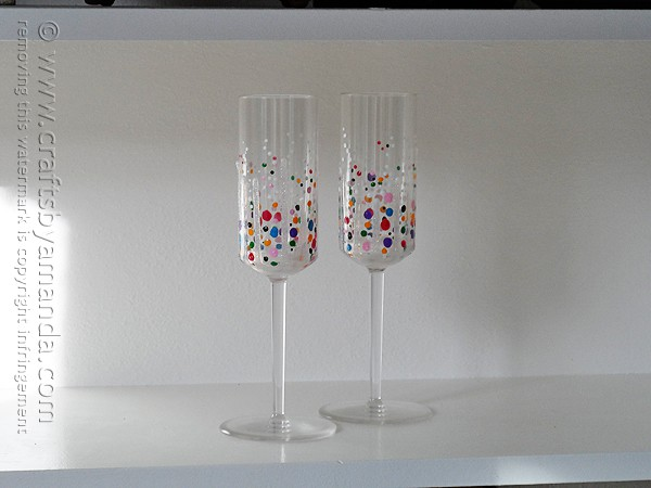 Confetti Champagne GlassesCrafts by Amanda