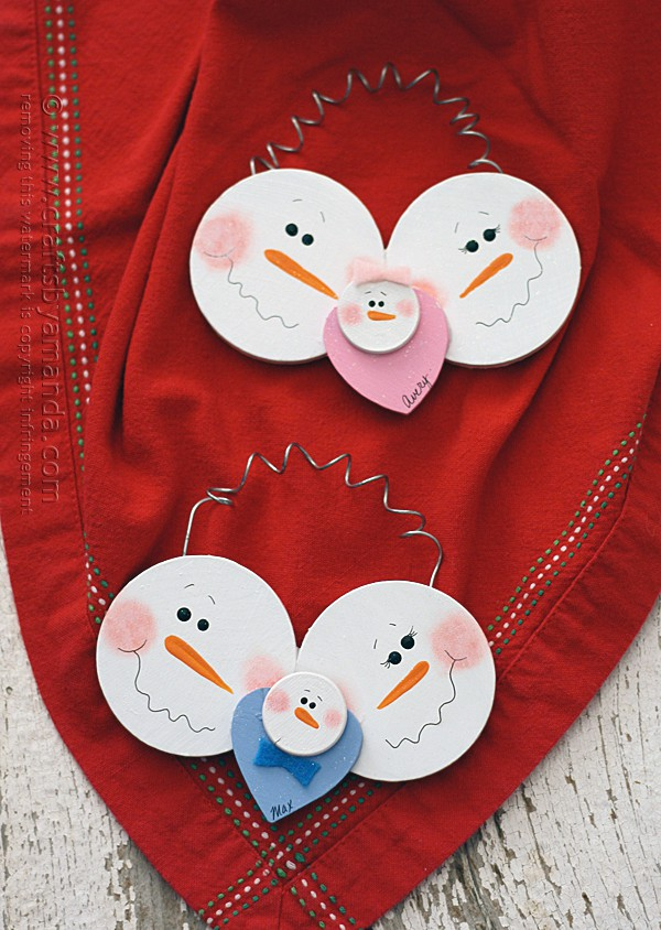Baby First Christmas Craft Ideas Part - 18: Babyu0027s First Christmas Snowman Ornament By @amandaformaro Crafts By Amanda