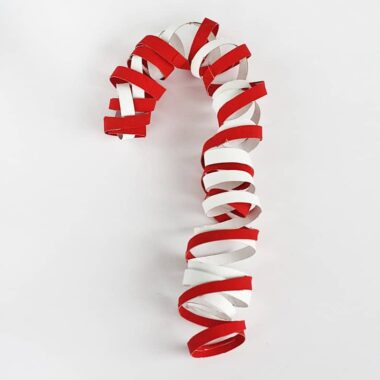 Coiled Cardboard Tube Candy Cane @amandaformaro Crafts by Amanda
