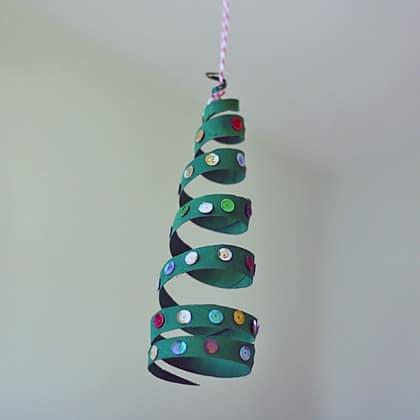 Cardboard Tube Coiled Christmas Tree @amandaformaro Crafts by Amanda