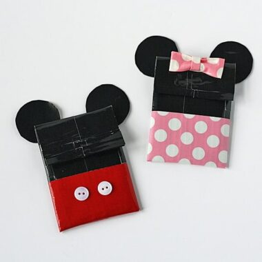 Duct Tape Mickey & Minnie Gift Card Holders by @amandaformaro Crafts by Amanda