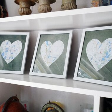 Framed Heart Maps @amandaformaro Crafts by Amanda
