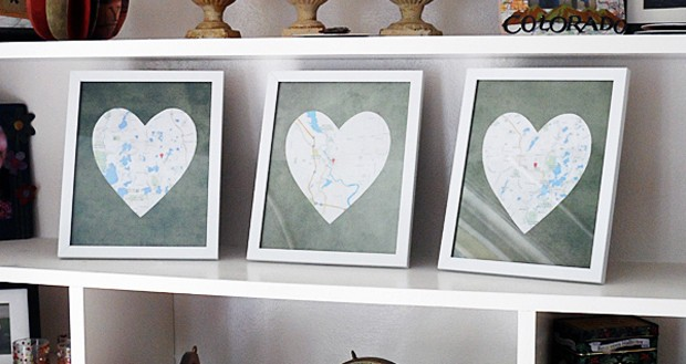 Framed Heart Maps