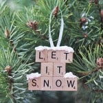 Let it Snow – Scrabble Tile Ornament