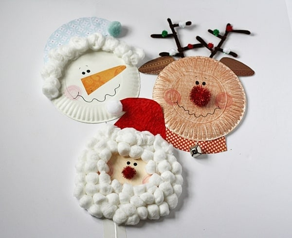 Paper Plate Santa Rudolph and Snowman by @amandaformaro Crafts by Amanda & Paper Plate Santa Snowman and Rudolph - Crafts by Amanda
