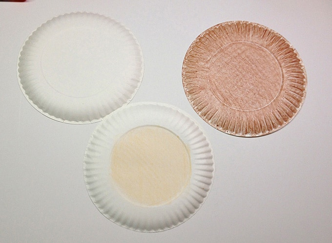 paper plates colored with crayons