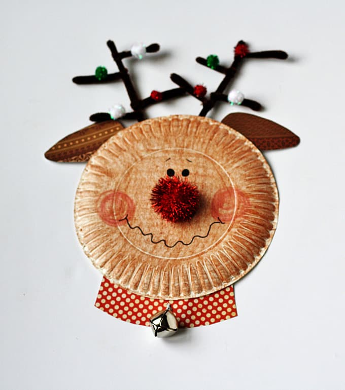 Paper Plate Santa Snowman And Rudolph Crafts By Amanda