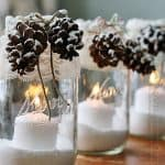 Winter Luminaries: Snowy Pinecone Candle Jars